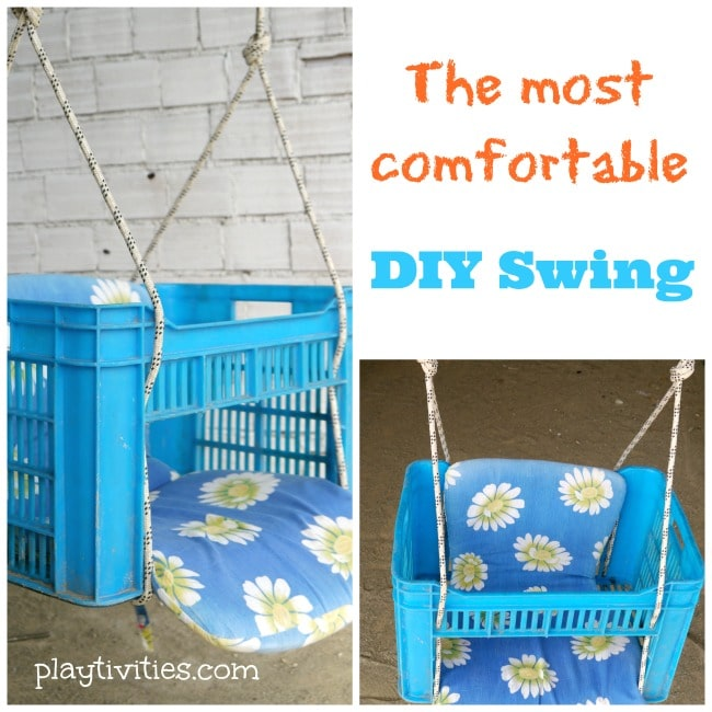 how to make a swing from a plastic box