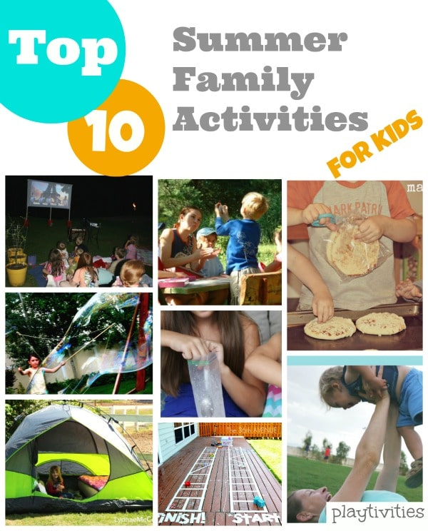 summer family activities collage