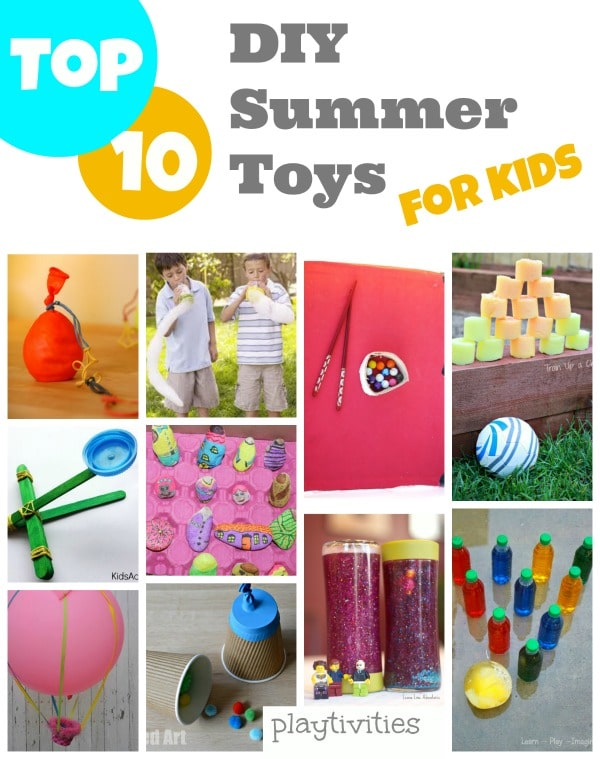 diy summer toys collage