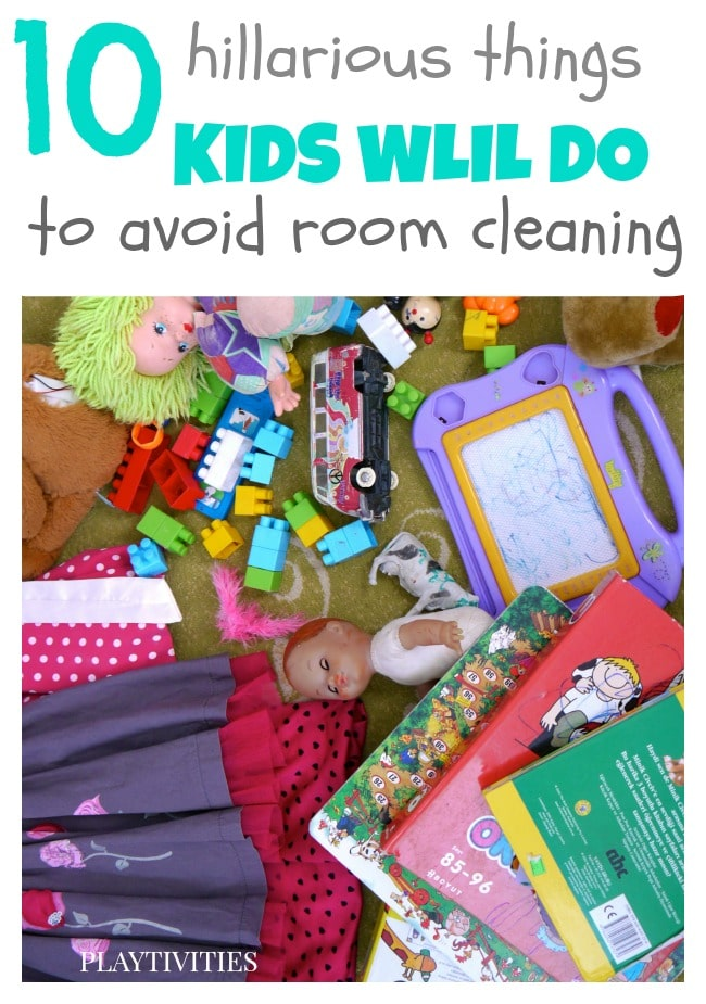 10 funny things kids say to avoid room cleaning