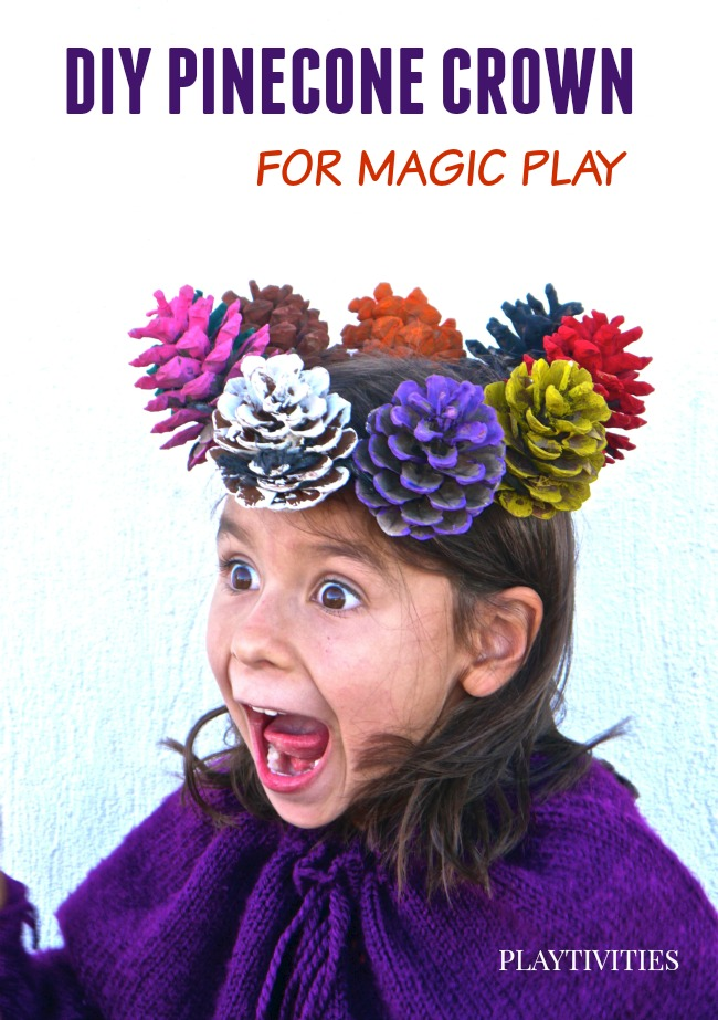 PINECONE CRAFT WITH CROWN