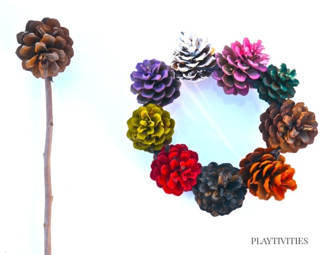 pinecone craft for fall
