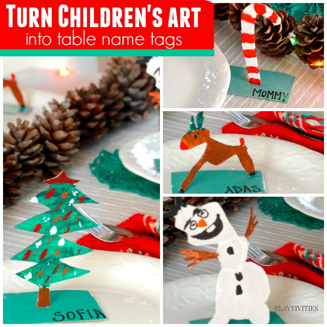 Turn Holiday crafts for kids into table name cards ...