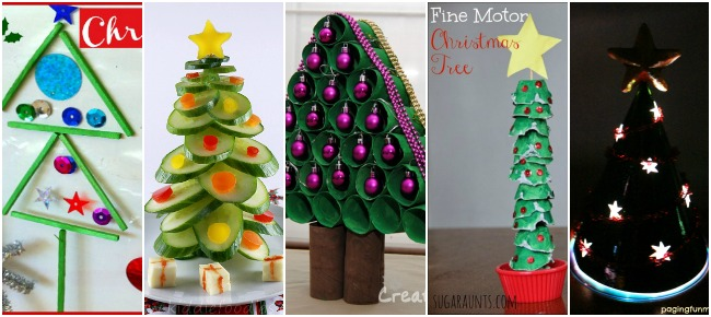 christmas crafts for kids trees