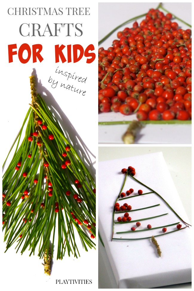 christmas tree crafts for kids nature