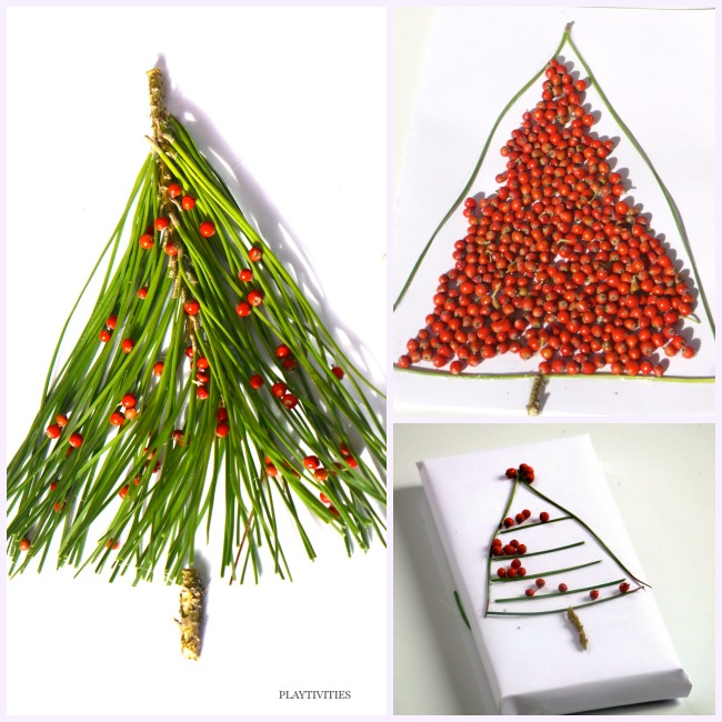 christmas tree crafts from nature