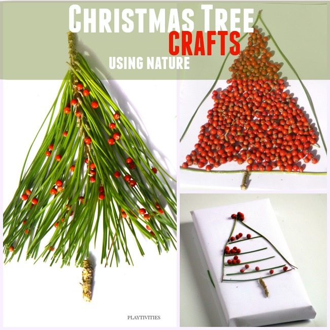 christmas tree crafts using nature