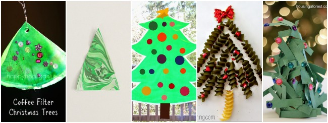 christmas tree crafts with trees