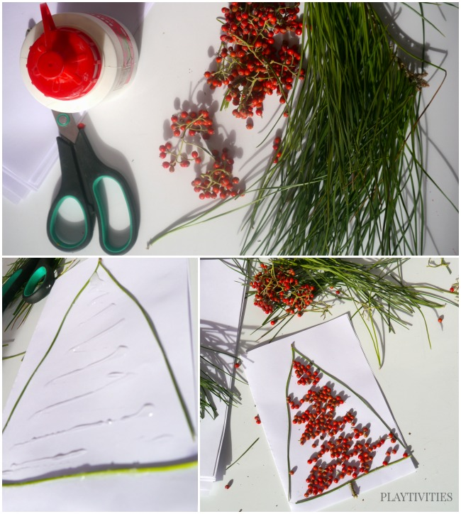 materials for christmas tree crafts