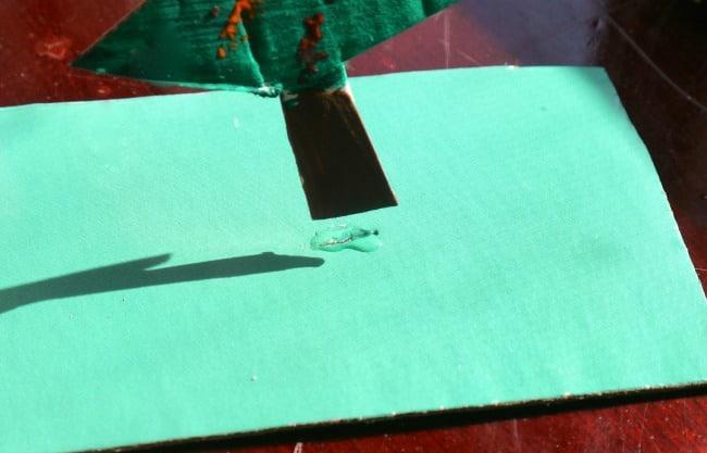 name cards drawings glue