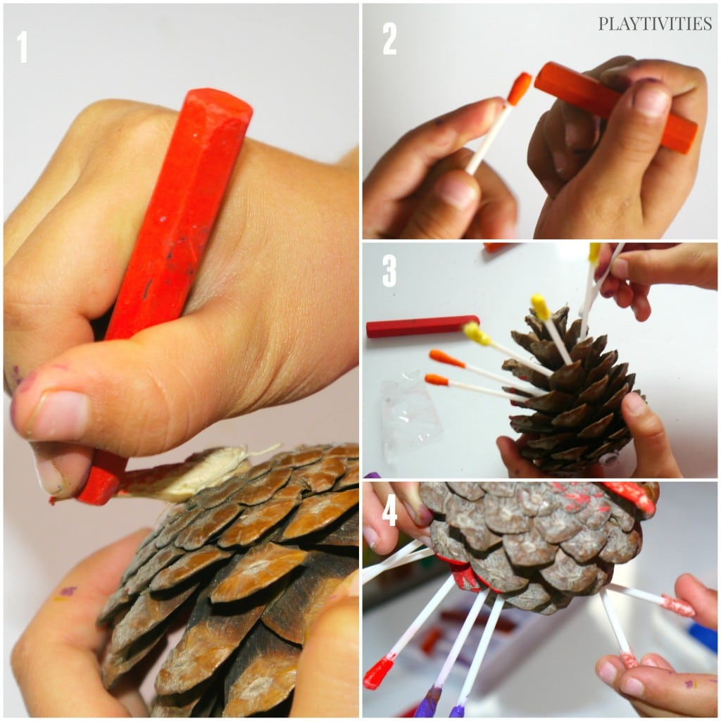 pinecone turkey craft tutorial