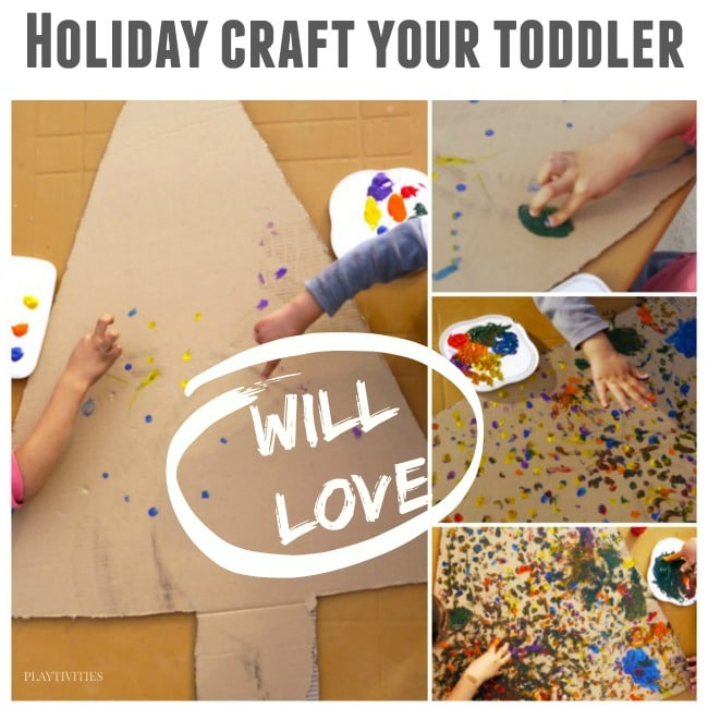 toddlers christmas tree craft