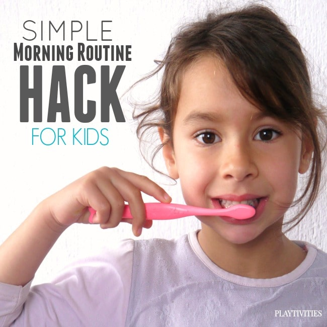 morning routine hack for kids