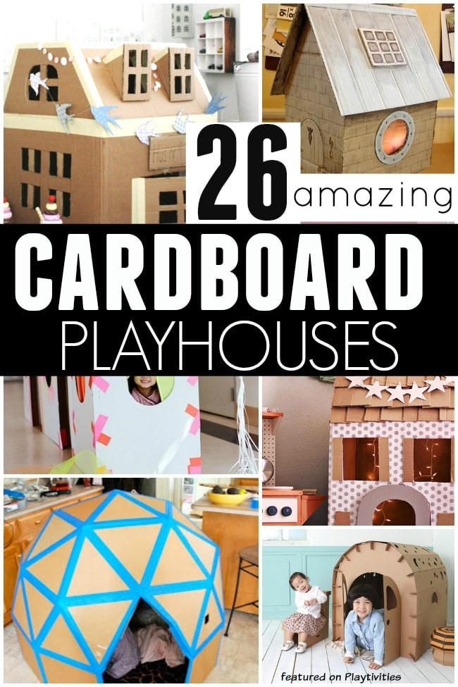 26 coolest cardboard houses ever playtivities for Cool things to make with paper for your room