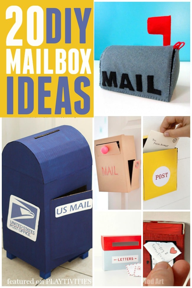 diy mailbox ideas  sc 1 st  Playtivities & 20 Cutest Mailbox Ideas - PLAYTIVITIES Aboutintivar.Com