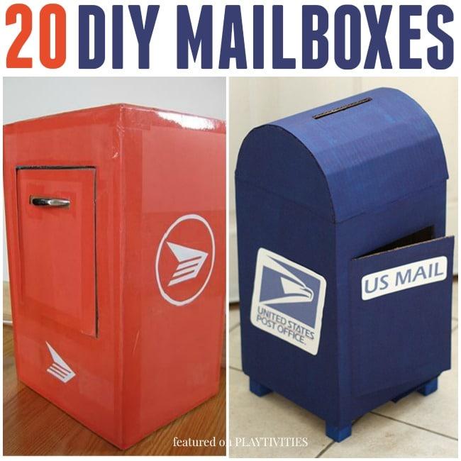 20 cutest mailbox ideas playtivities diy mailboxes solutioingenieria Choice Image