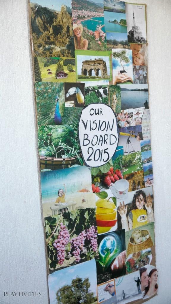 family vision board haning