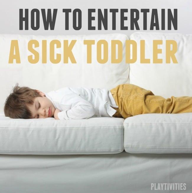 sick toddler activities