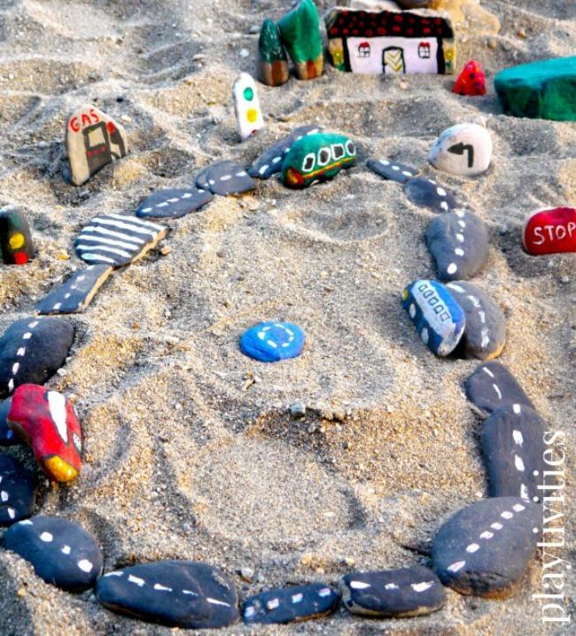 homemade rock sand toys