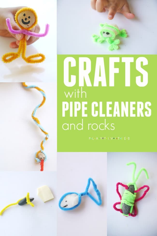 Pipe Cleaner Animals Made With Rocks