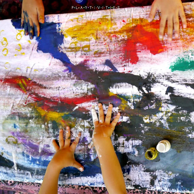 Make Your Own Canvas With Kids Playtivities