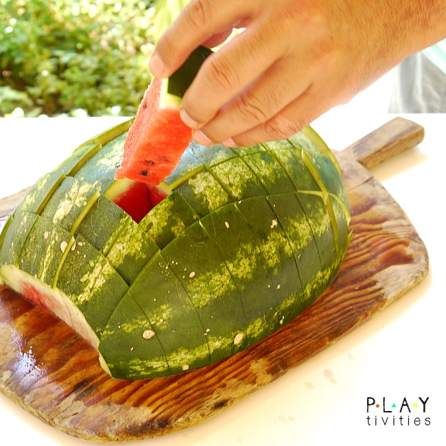 how to cut watermelon easy