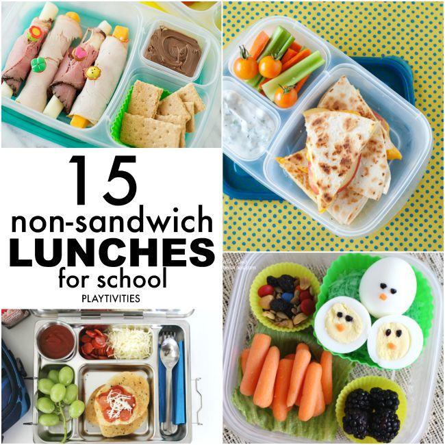 non sandwich lunches