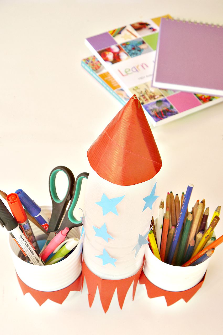 Pencil Holder From Up-cycled Materials