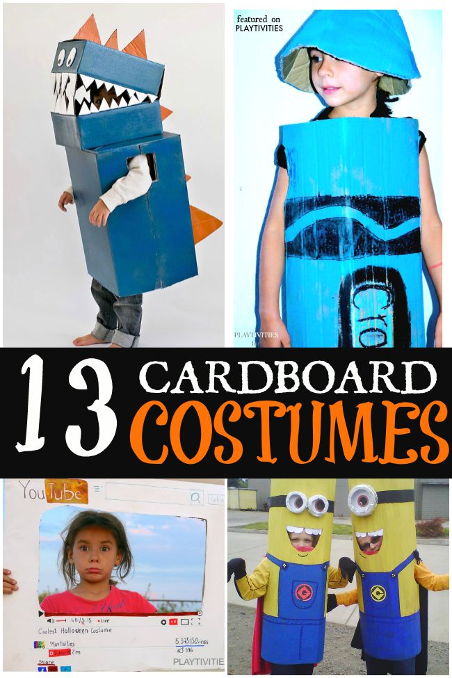 Coolest Cardboard Halloween Costumes For Kids