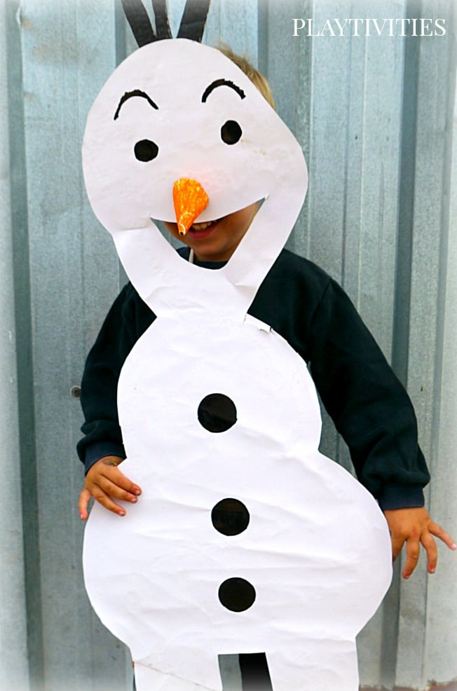 0c7f05711 Olaf Costume. Yes, Olaf is still a popular character in our house. And  guess, what – it's super easy to make it! free Halloween costumes