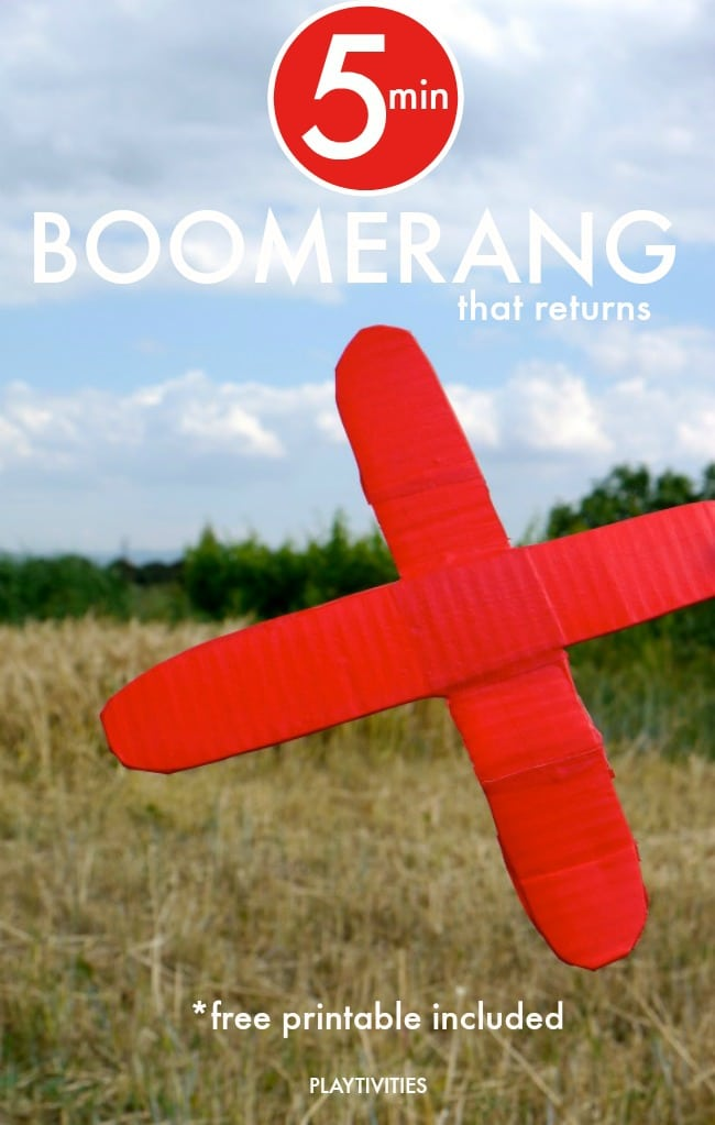 How To Make Cardboard Boomerang