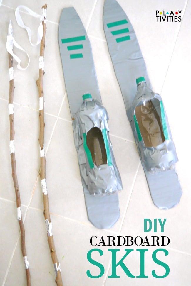 diy cardboard skis