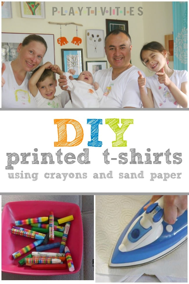 DIY Printed T-Shirts Using Crayons