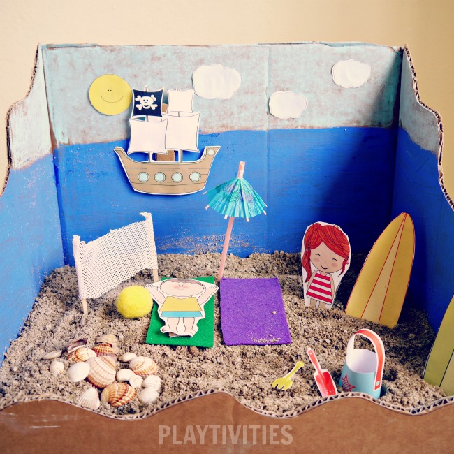 Miniature Beach Play Set And The Adventures Playtivities