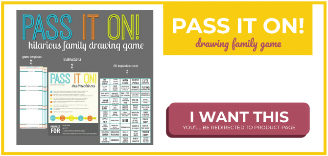 Pass it on! Drawing family game