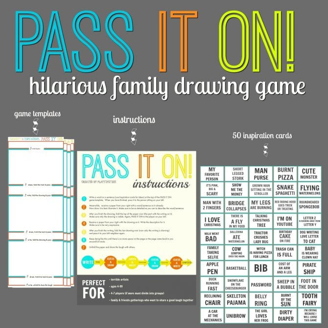 PASS IT ON - A Hilarious Family Drawing Game - PLAYTIVITIES