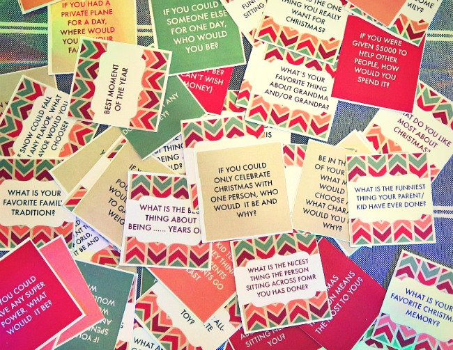 graphic regarding Printable Conversation Cards titled 50 Xmas Evening meal Interaction Starters. Totally free Printable
