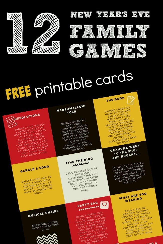 graphic relating to Printable Family Games known as 12 Fresh new Decades Eve Family members Game titles - PLAYTIVITIES