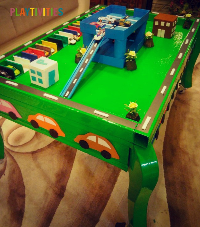 Diy Toy Car Garage Table That Cost Almost Nothing To Make