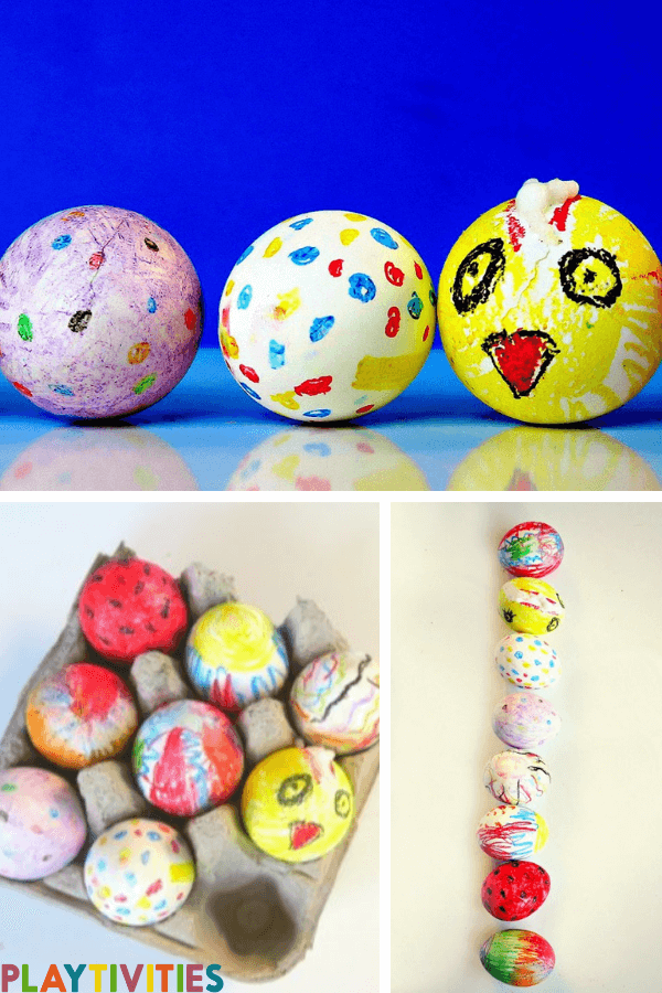 How To Dye Easter Eggs With Crayons & Have Fun with It - PLAYTIVITIES