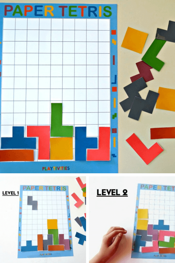 diy paper tetris