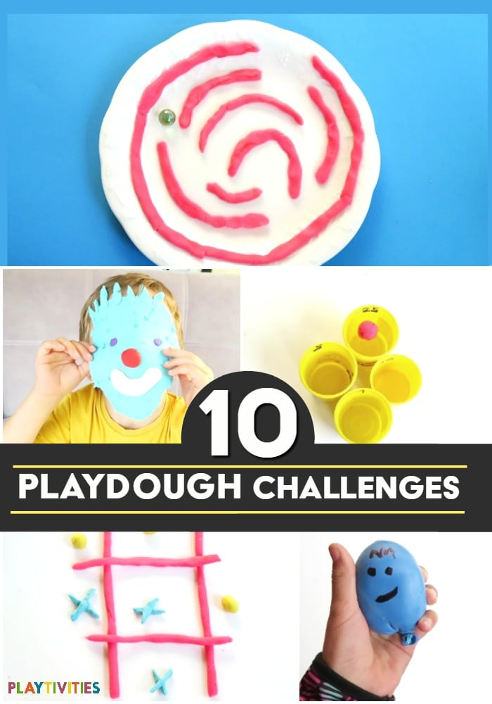 playdough challenges for kids
