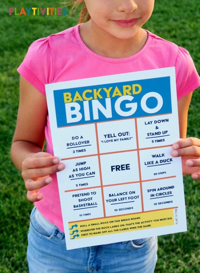 Backyard Bingo Game Will Keep Kids Active