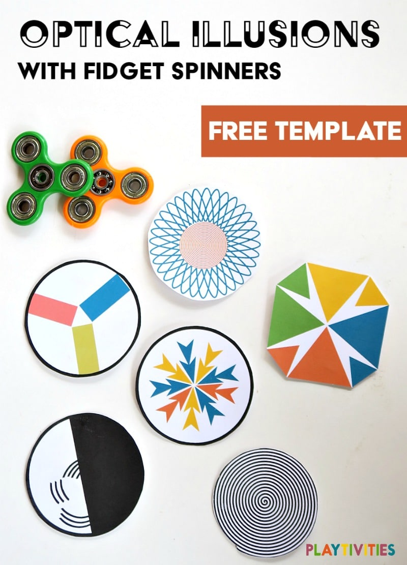 image regarding Printable Fidget Spinner Template called Assortment Paper Fidget Toy Template Shots