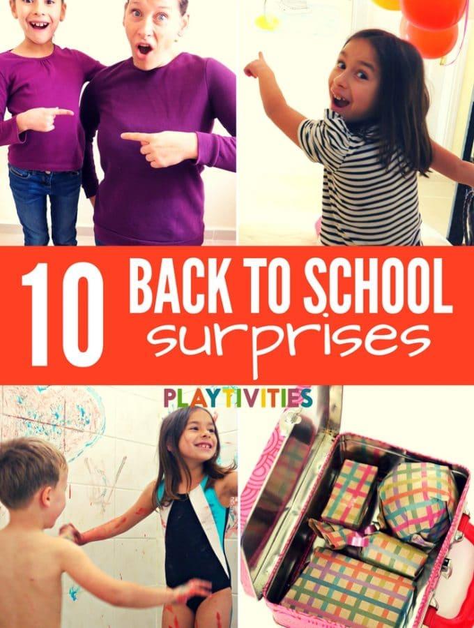 10 Back To School Suprises For Kids