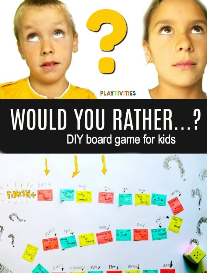 Would You Rather? DIY Board Game