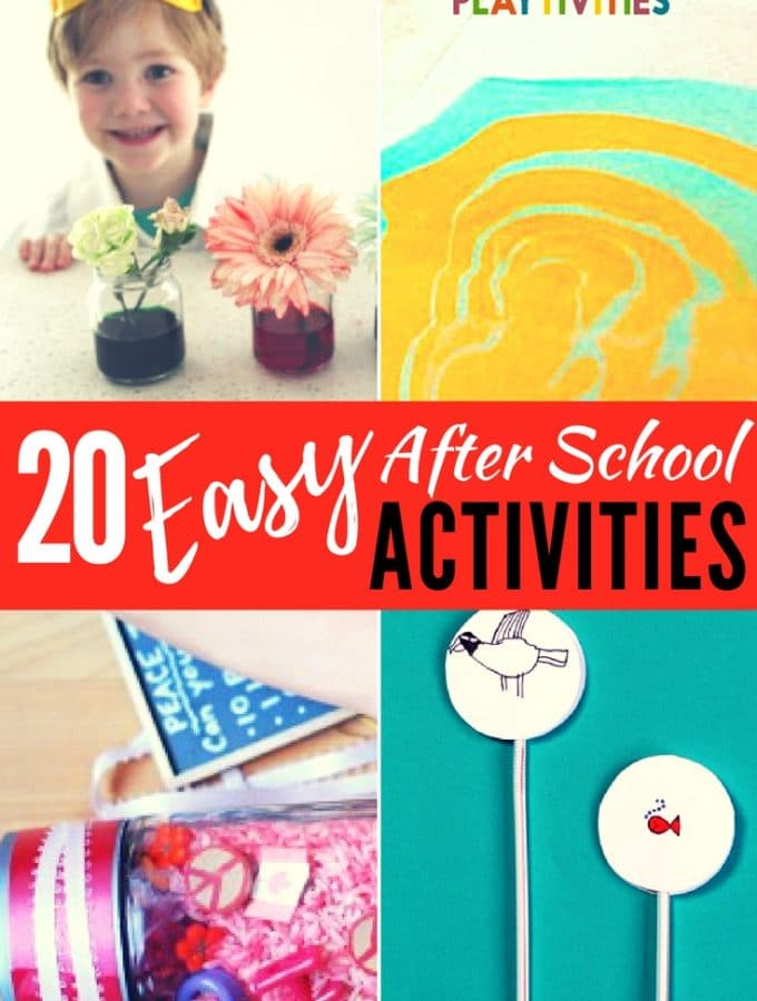 20 After School Activities That Require Minimal Set-up