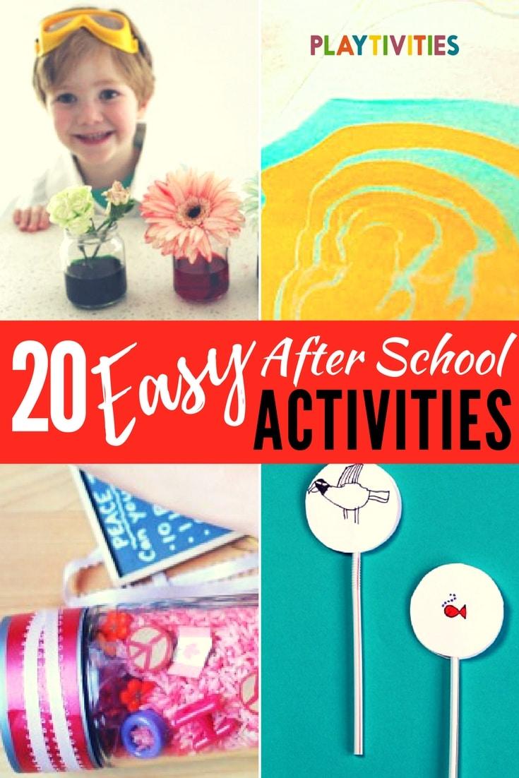 20 after school activities that require minimal set up playtivities