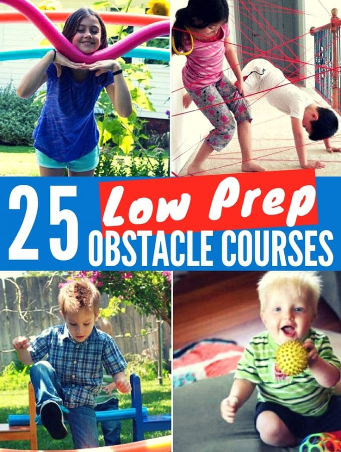 25 Easiest Low Prep Obstacle Courses for Kids
