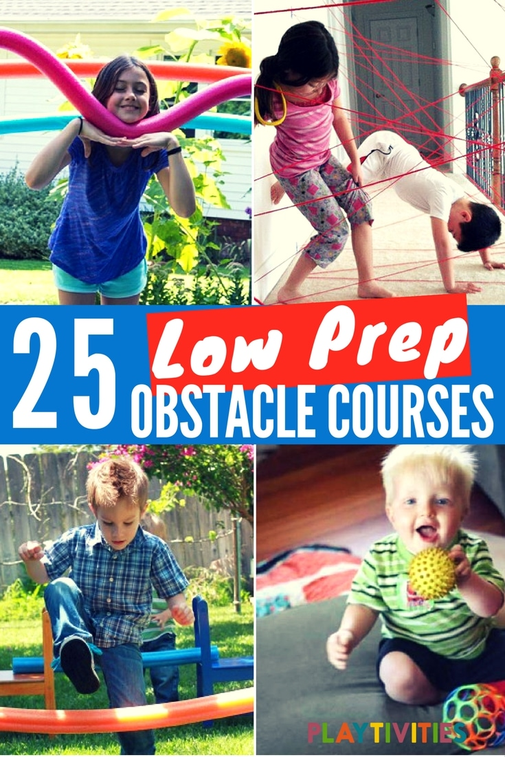 25 Easiest Low Prep Obstacle Courses For Kids Playtivities
